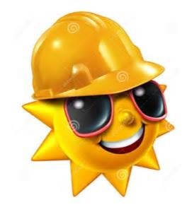 The sun has got his hat on, have you?