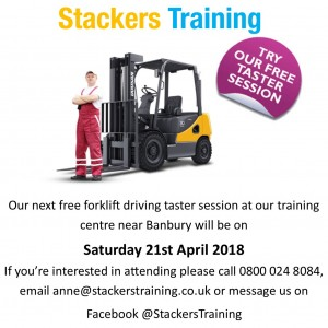 Forklift driving taster day