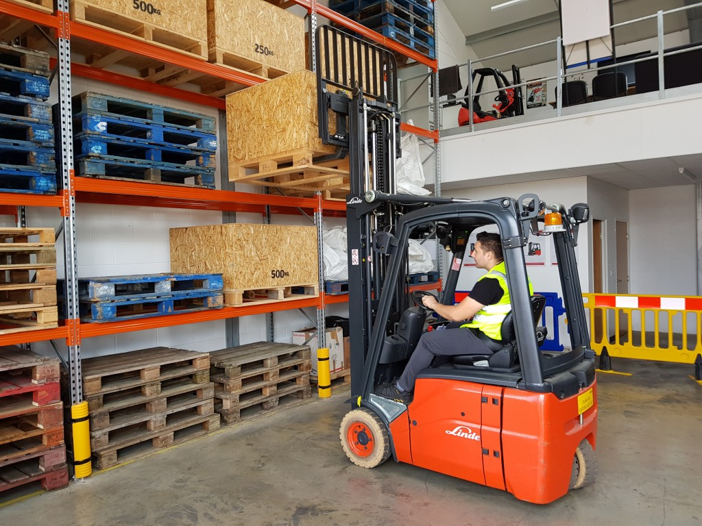 Can a disabled person operate a forklift truck?